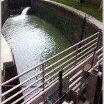 Plano de una exclusa en el canal du midi