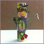 Hucha hecha por niñas con material reciclado y témperas