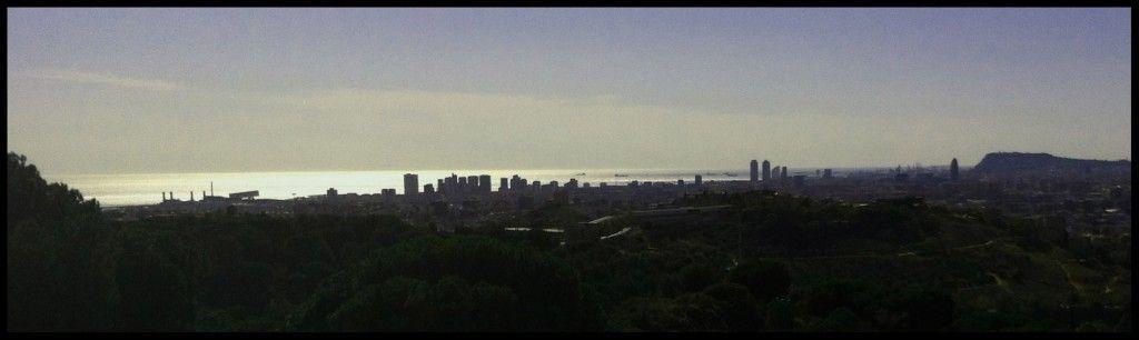 Vista de Barcelona desde el poblado Ibérico de Puig Castellar