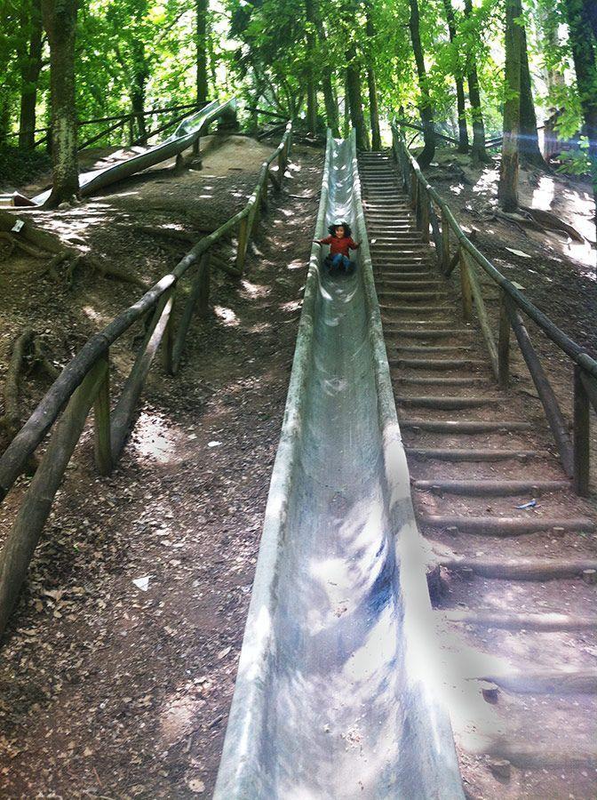 Toboganes gigantes del parque Fuentes blancas