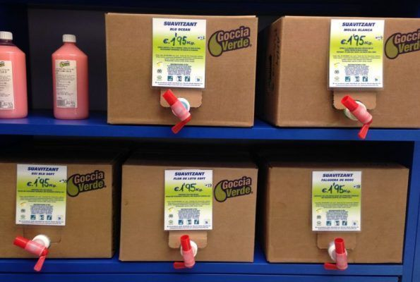 Productos de higiene corporal a granel en Goccia Verde