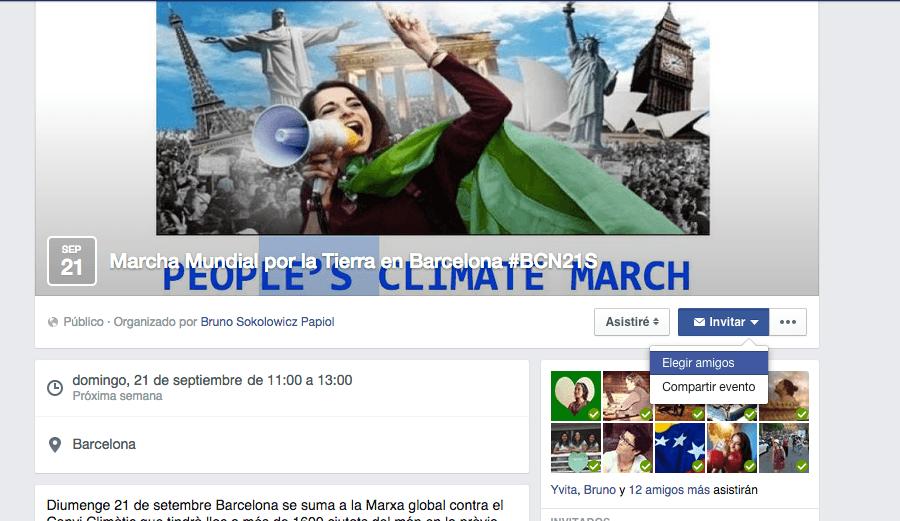 Invita a tus amigos a la Marcha Mundial por la Tierra