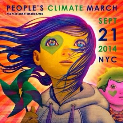 Convocatoria de Nueva York a la marcha global por el medio ambiente PeoplesClimate