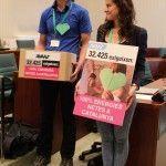 Patricia de Avaaz y Daniele Vigano de BCN21S