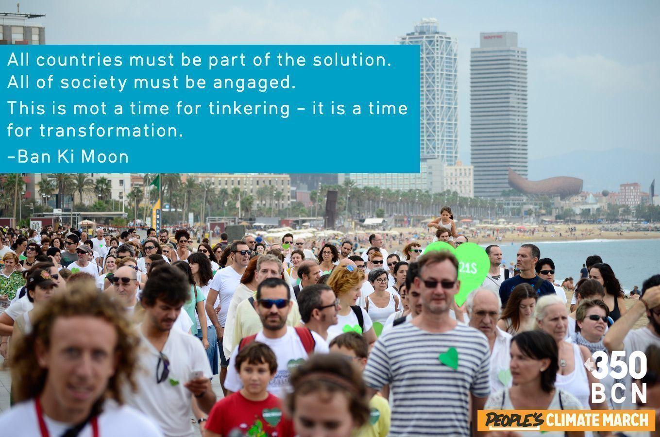 Todos los países deben ser parte de la solución. Toda la sociedad tiene que involucrarse. No es momento de bricolaje, sino de transformación