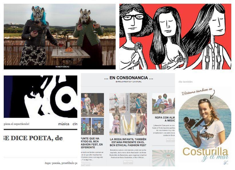 Collage de mis nominadas a los premios Liebster