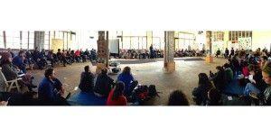 Climate Skillshate Una de las primeras plenarias del fin de semana. Greenpeace