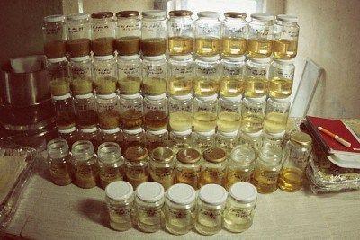 Pruebas de diferentes concentraciones de jabón líquido