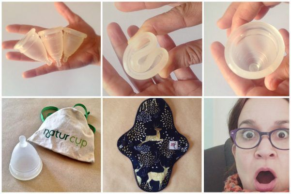 Copa menstrual y compresas lavables para menstruaciones ecológicas