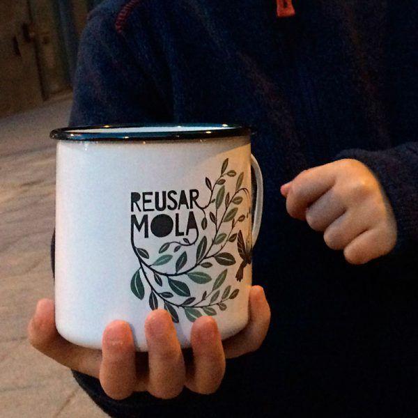 Taza de acero inoxidable, reutilizable, reusar mola