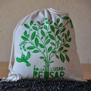Bolsa para compras zero waste. Para granel, ecológica