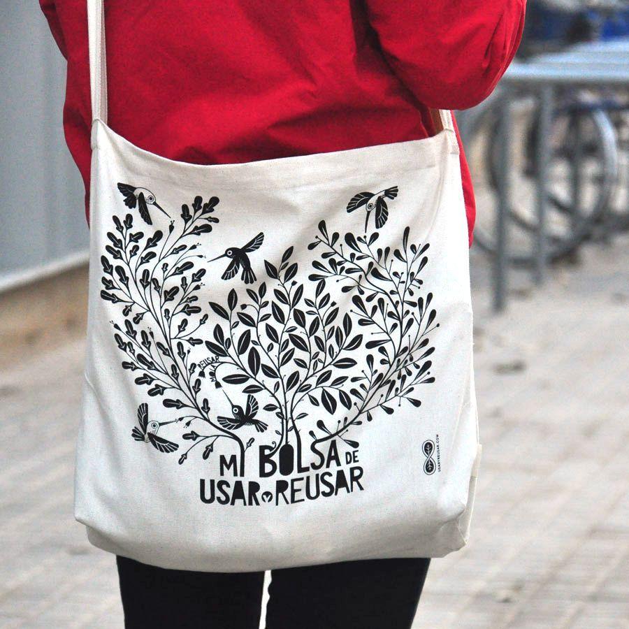 Tote Bag de algodón orgánico, confeccionada en Barcelona en una empresa de integración social de personas con discapacidad