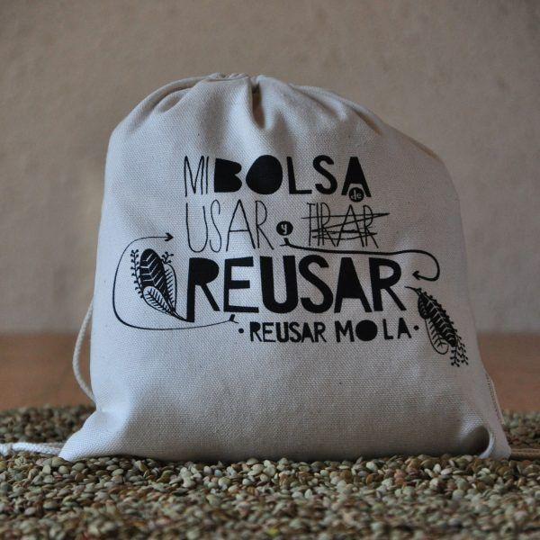 Bolsa reutilizable para comprar granos
