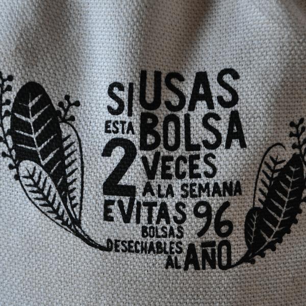 Bolsa reutilizable de algodón ecológico