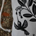 Bolsa de compras algodón orgánico para comprar granos