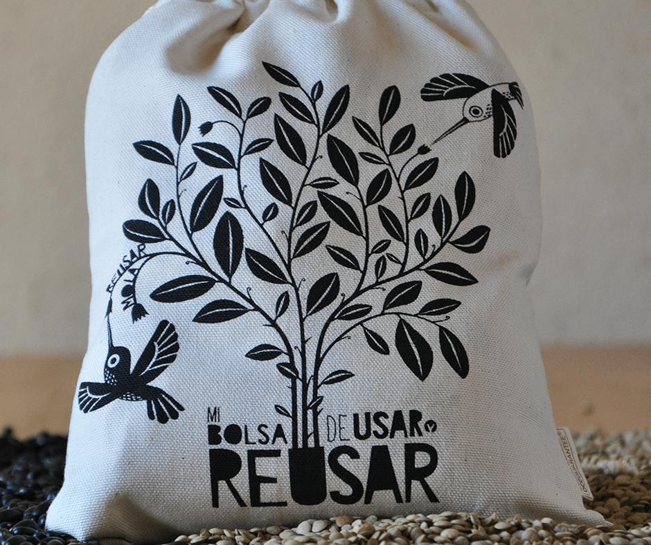 Bolsa ecológica para comprar granos de Usar y reusar