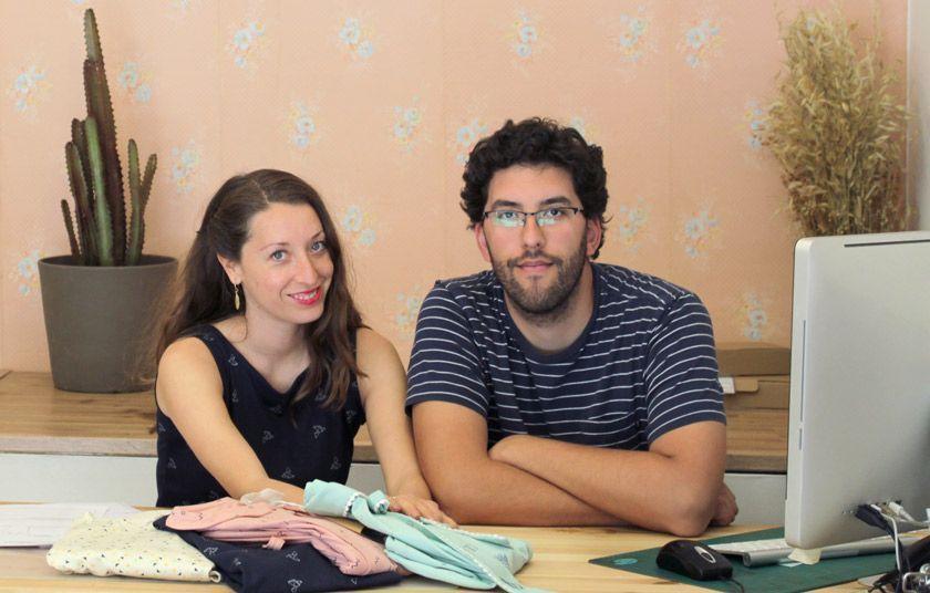 Meeta y Pablo, de TIralahilacha, moda sostenible diseñada en Barcelona.