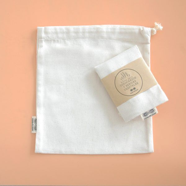 Bolsa para preparar germinados y leches vegetales de algodón orgánico