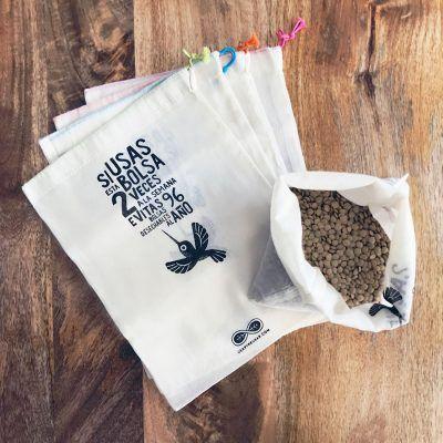 Bolsa para granel. algodón organico fino
