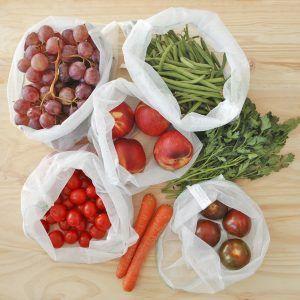 Pack de bolsas para fruta residuo cero y solidarias