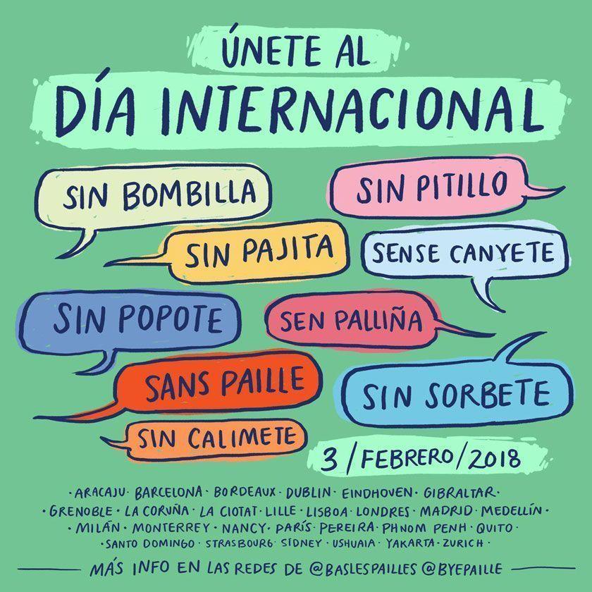 Día Internacional sin Pajita