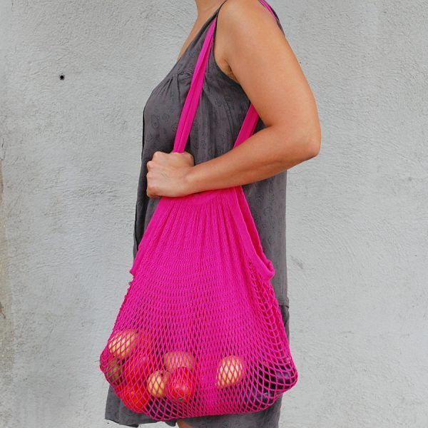 Bolsa de malla de algodón orgánico de punto