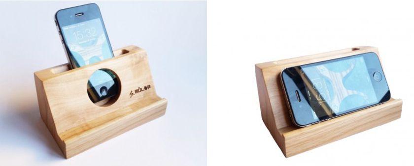 altavoces de madera ecologicos para moviles by moler