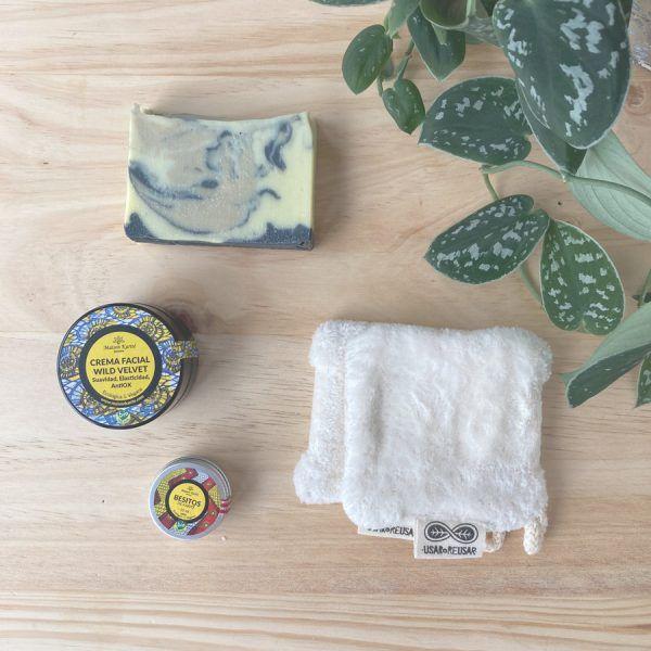 kit zero waste cuidado facial especial para pieles grasas o mixtas