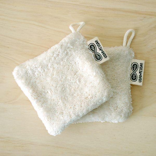 Discos desmaquillantes reutilizables de algodón orgánico