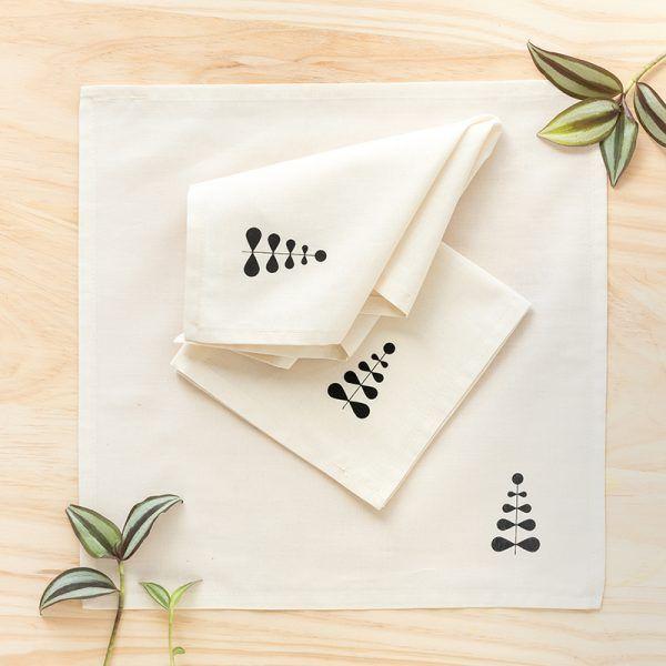 Pañuelos de tela, de algodón orgánico, hechos en Barcelona