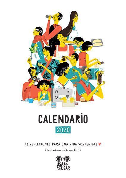 calendario ambiental 2020 descargable de Usar y Reusar
