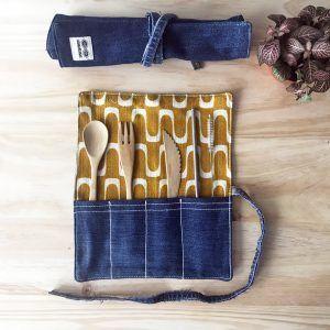 Funda-roll porta cubiertos vintage