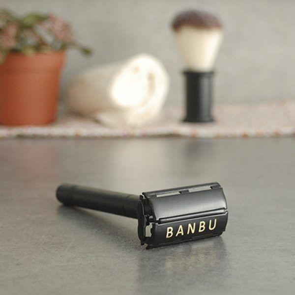Afeitadora clásica reutilizable negra