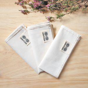 Pañuelos de tela de algodón orgánico grandes