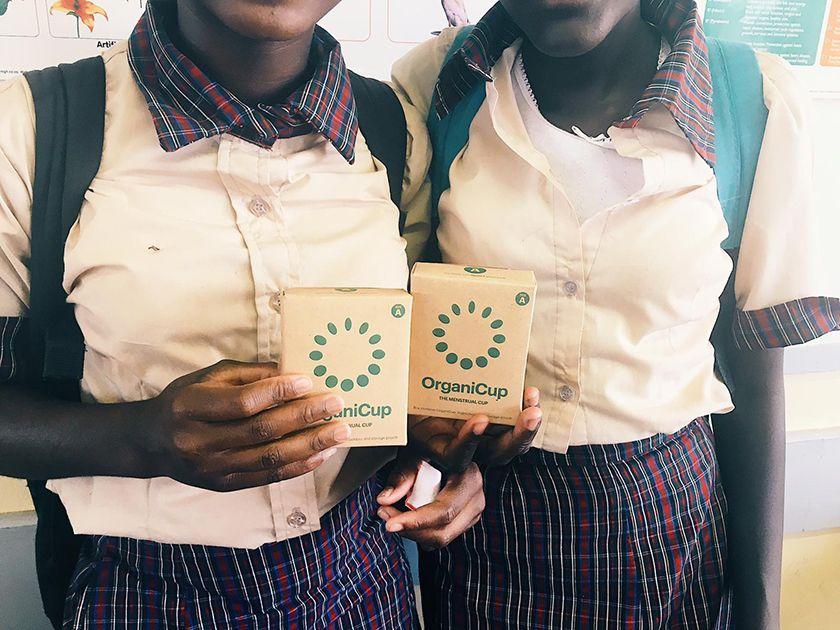 Organicup, la copa menstrual contra la pobreza menstrual. Period powerty