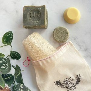 Kit básico ducha zero waste sin plástico